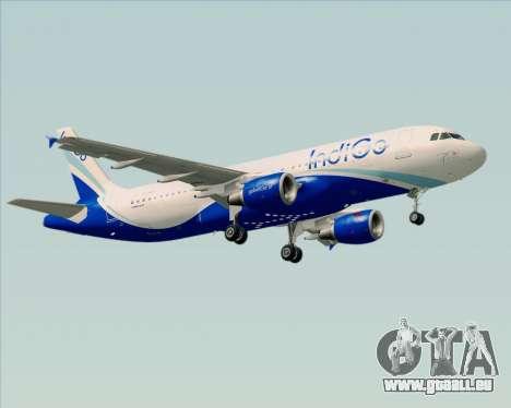 Airbus A320-200 IndiGo für GTA San Andreas Räder