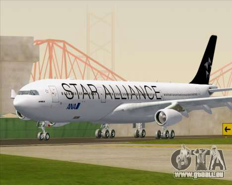 Airbus A340-300 All Nippon Airways (ANA) für GTA San Andreas linke Ansicht