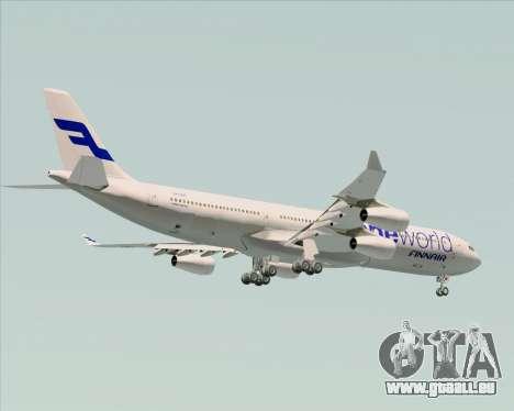 Airbus A340-300 Finnair (Oneworld Livery) pour GTA San Andreas vue de côté