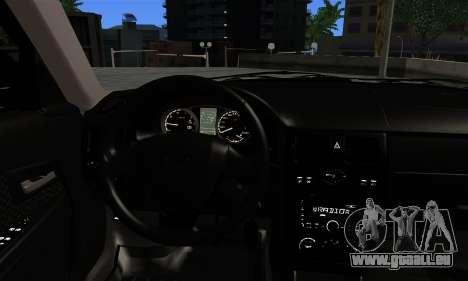 VAZ 2170 pour GTA San Andreas sur la vue arrière gauche