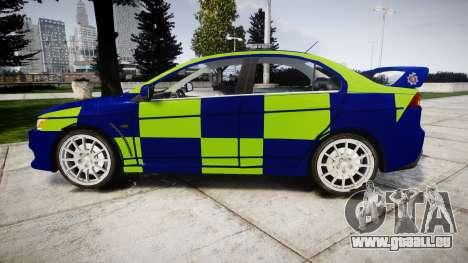 Mitsubishi Lancer Evolution X Police [ELS] pour GTA 4 est une gauche