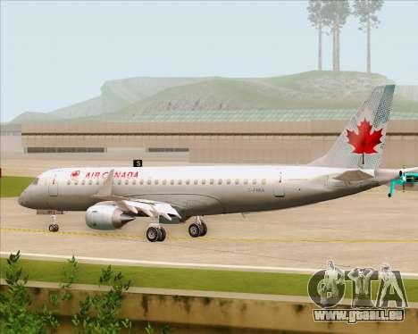 Embraer E-190 Air Canada für GTA San Andreas Rückansicht