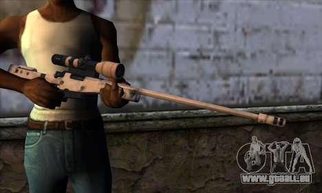 L11A3 Sniper Rifle pour GTA San Andreas troisième écran