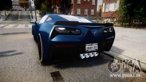 Chevrolet Corvette Z06 2015 TireBr3 pour GTA 4 Vue arrière de la gauche