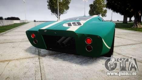 Ford GT40 Mark IV 1967 PJ Schila Racing 19 pour GTA 4 Vue arrière de la gauche