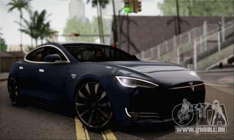 Tesla Model S 2014 für GTA San Andreas