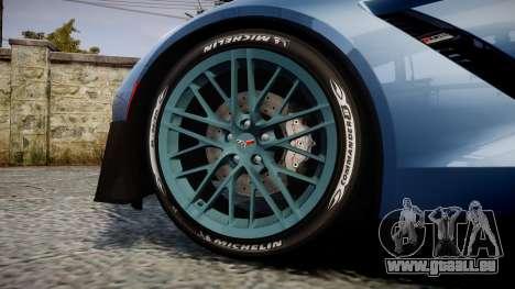 Chevrolet Corvette Z06 2015 TireMi1 für GTA 4 Rückansicht