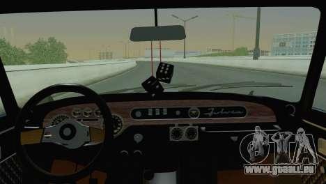 Lancia Fulvia pour GTA San Andreas sur la vue arrière gauche