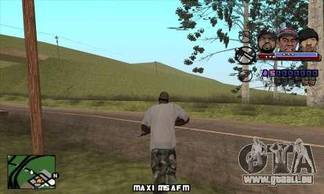 C-HUD Ice Rad Tyga für GTA San Andreas