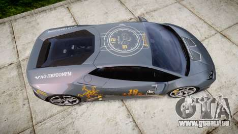 Lamborghini Huracan LP 610-4 2015 Blancpain pour GTA 4 est un droit