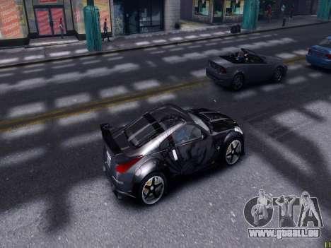 Nissan 350Z Tokyo Drift pour GTA 4 est une vue de l'intérieur