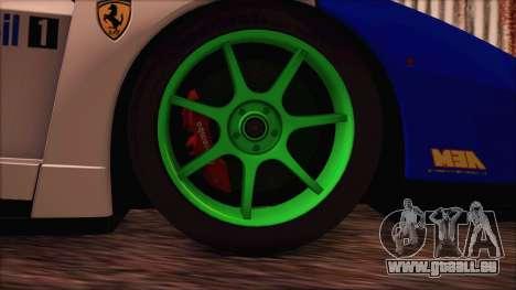 Ferrari Enzo Whirlwind Assault für GTA San Andreas zurück linke Ansicht