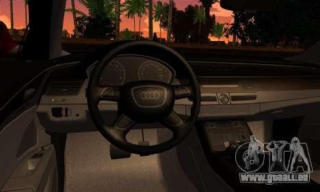 Audi S8 pour GTA San Andreas sur la vue arrière gauche