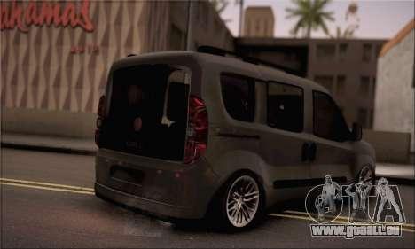 Fiat Doblo 2010 pour GTA San Andreas laissé vue