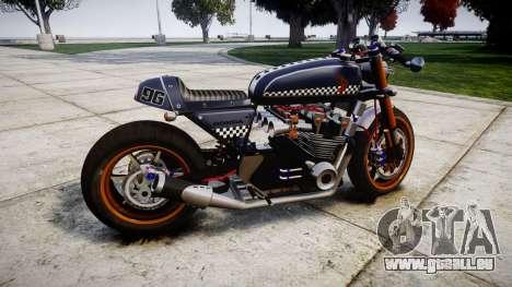 Honda CB750 cafe racer für GTA 4 linke Ansicht