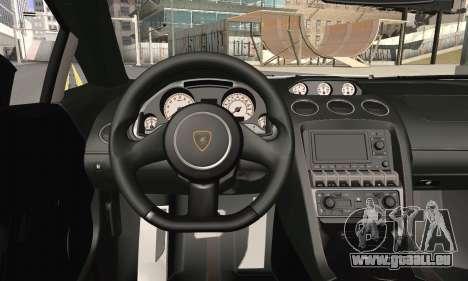Lamborghini Gallardo Superleggera 2011 für GTA San Andreas zurück linke Ansicht