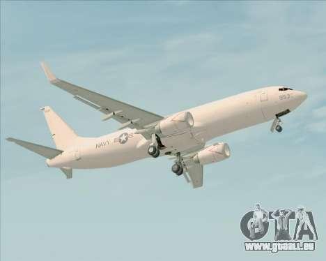 Boeing P-8 Poseidon US Navy pour GTA San Andreas vue de dessous