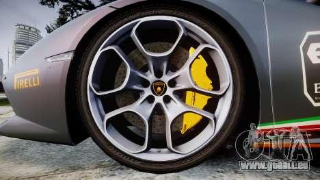 Lamborghini Huracan LP 610-4 2015 Blancpain pour GTA 4 Vue arrière