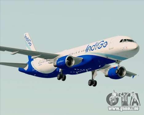 Airbus A320-200 IndiGo für GTA San Andreas rechten Ansicht