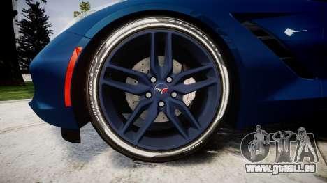 Chevrolet Corvette C7 Stingray 2014 v2.0 TirePi1 pour GTA 4 Vue arrière