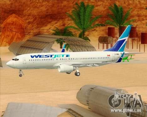 Boeing 737-800 WestJet Airlines für GTA San Andreas Räder