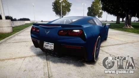 Chevrolet Corvette C7 Stingray 2014 v2.0 TirePi1 pour GTA 4 Vue arrière de la gauche
