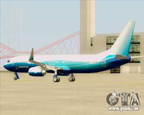 Boeing 737-800 House Colors für GTA San Andreas Rückansicht