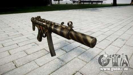 Pistolet MP5SD NA CS pour GTA 4