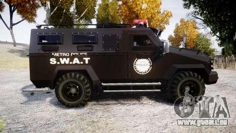 SWAT Van Metro Police [ELS] für GTA 4 linke Ansicht