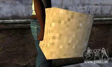Bloc (Minecraft) v6 pour GTA San Andreas troisième écran