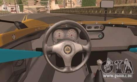 Lotus 2 Eleven (211) pour GTA San Andreas sur la vue arrière gauche