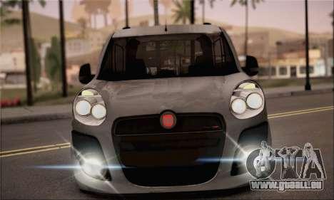 Fiat Doblo 2010 pour GTA San Andreas sur la vue arrière gauche
