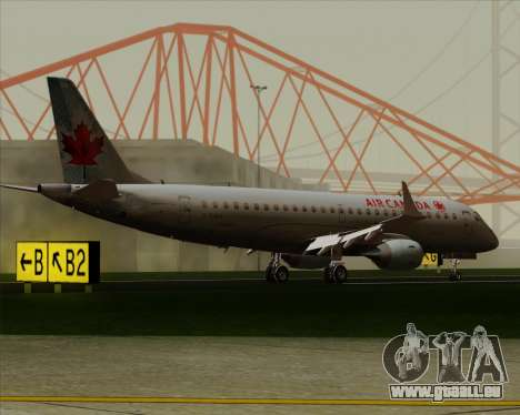 Embraer E-190 Air Canada pour GTA San Andreas vue de côté