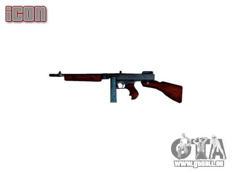 Pistolet mitrailleur Thompson M1A1 boîte de icon pour GTA 4 troisième écran
