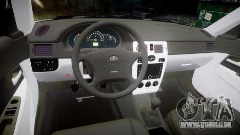 ВАЗ-2170 haute qualité pour GTA 4 est une vue de l'intérieur