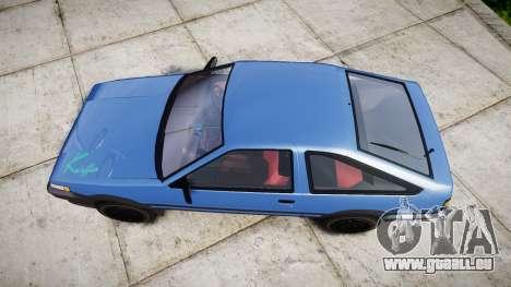 Toyota Corolla Levin (AE86) pour GTA 4 est un droit