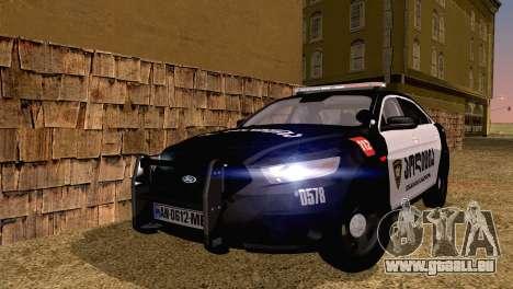 Ford Taurus 2013 Georgia Police Car für GTA San Andreas