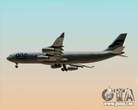 Airbus A340-300 Finnair (Oneworld Livery) pour GTA San Andreas vue de droite