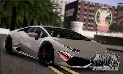 Lamborghini Huracan LP610-4 2015 für GTA San Andreas Innenansicht