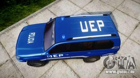 Toyota Land Cruiser 100 UEP blue [ELS] für GTA 4 rechte Ansicht