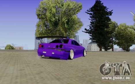 Nissan Skyline GT-R 34 pour GTA San Andreas laissé vue