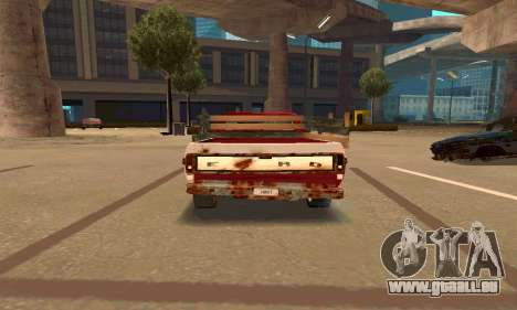 Ford PickUp Rusted pour GTA San Andreas vue de droite