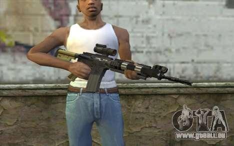 M4 MGS Iron Sight v2 für GTA San Andreas dritten Screenshot