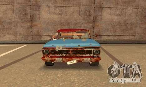 Ford PickUp Rusted pour GTA San Andreas sur la vue arrière gauche