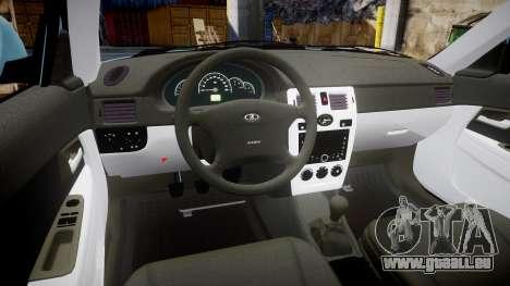 ВАЗ-Lada 2170 Priora Sapara pour GTA 4 Vue arrière