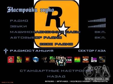 Le groupe Radio de Gaza pour GTA San Andreas deuxième écran