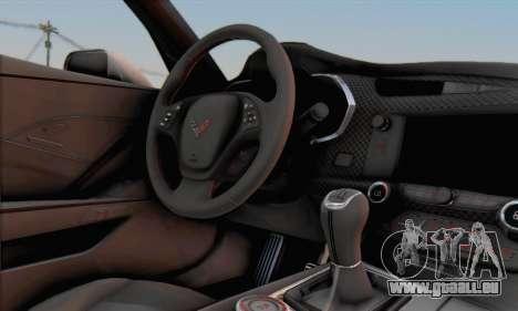 Chevrolet Corvette Stingray C7 2014 für GTA San Andreas rechten Ansicht