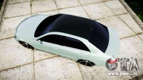 Mercedes-Benz E200 Vossen VVS CV5 für GTA 4 rechte Ansicht