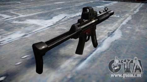 Pistolet MP5SD EOTHS FS b cible pour GTA 4 secondes d'écran