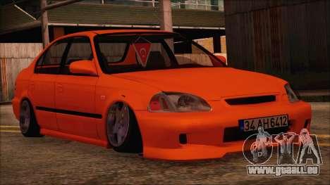 Honda Civic 34 AH 6412 pour GTA San Andreas